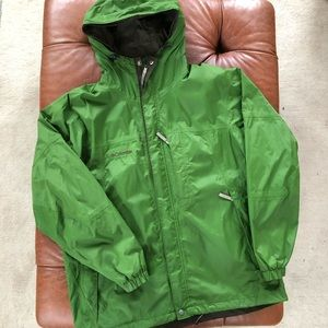 Columbia Jacket Waterproof Breathable Coat Green L